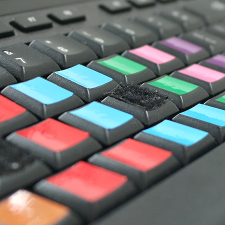 Touchtyping keyboard